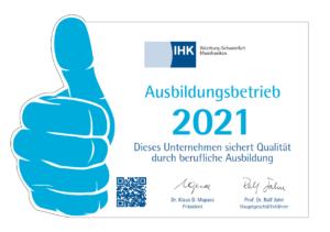 IHK-Siegel Ausbildung 2021